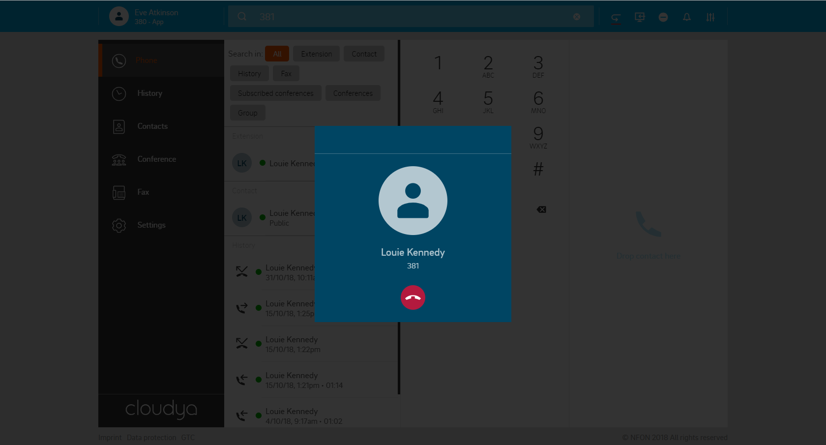 Cloudya Call Screenshot